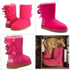 PINK UGG BAILEY BOW II NEW IN BOX